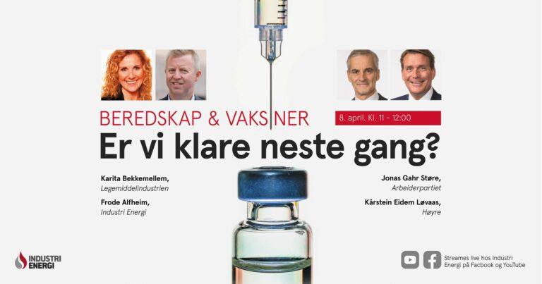 Vaksiner og beredskap: Vi kjører debatt!