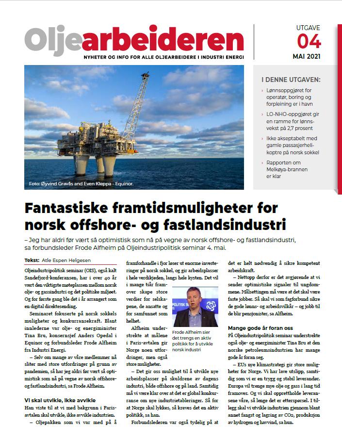 Ny utgave av Oljearbeideren er ute nå