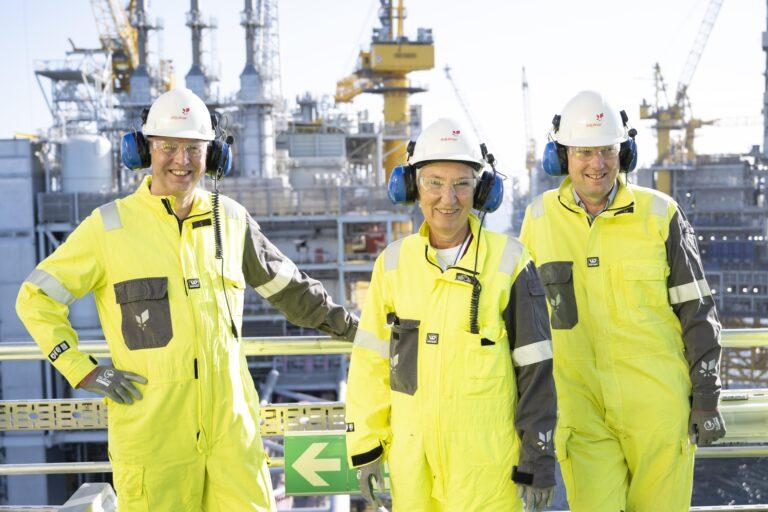 LO og Industri Energi besøkte et av verdens reneste oljefelt